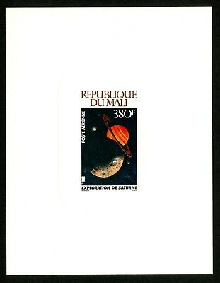 Mali Scott #C423 MNH 380fr Space Exploration Moon Saturn Deluxe Proof $$$