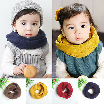 Autumn Winter Child Baby Snood Scarf Boys Girl Knit O Ring Neck Warm Neckerchief