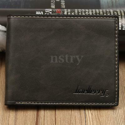 Mens Luxury Soft Quality Leather Wallet ID Credit Card Holder Purse Coffee Brown