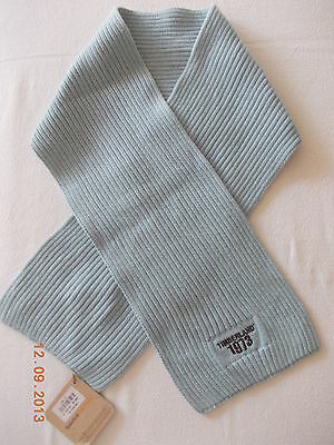BNWT Timberland Boys 100% Cotton Light Blue Ribbed Scarf  Age 2-5 yrs