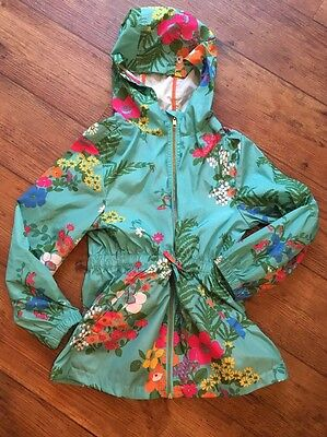 Next Floral Waistcoat Hooded Age 8 Years Drawstring Waist Pockets Stunning