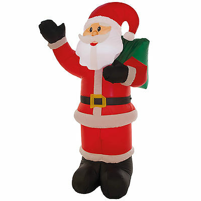 1.8m Christmas Cheerful Waving Santa Claus Indoor Outdoor Inflatable Decoration