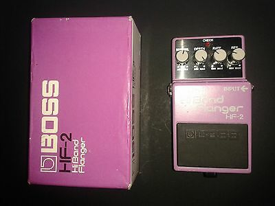 Boss HF2 Flanger BOXED HF-2 Hi Band Flanger Made in Japan 1986 Green Label