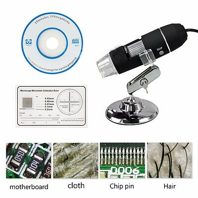 1000X8 LED USB 2.0 Digital Microscope Endoscope Zoom Camera Magnifier +Stand 2MP