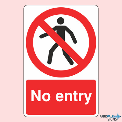 Push Door /& Emergency Exit No Admittance Eurasign Safety Signs No Smoking