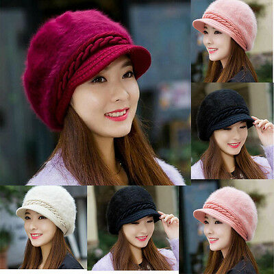 Women's Ladies Winter Warm Knitted Crochet Slouch Baggy Beanie Hat Cap 4 Colors