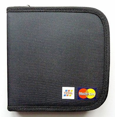 NEW UNUSED 12x POCKET STRONG PADDED BLACK ZIP CANVAS CD-DVD CARRIER 5* QLTY MINT