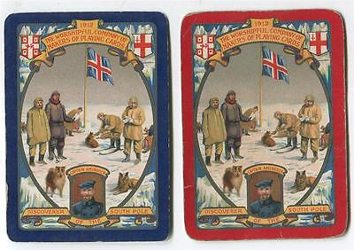 VINTAGE WORSHIPFUL PLAYING CARDS 1912 PAIR - Discovery of the South Pole