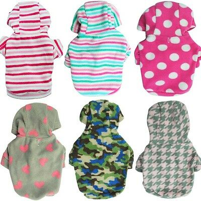 New Pet Dog Warm Clothes Coat Sweater Puppy Cat Small Hoodie Apparel Costume
