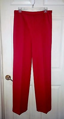 vintage 70s Alex Colman Red Casual Pull-on Polyester Pants sz 12