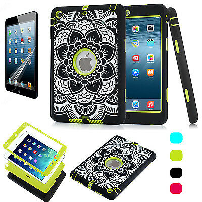 Anti-proof Defender Hybrid Shockproof Heavy Rubber Firm Case For iPad Mini 1/2/3