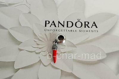 PANDORA | GENUINE Sterling Silver Corno Red Enamel Dangle Charm: 791361EN09