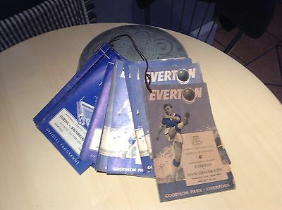 Complete Set Of Everton Home Programmes for The Championship Year 1962/63