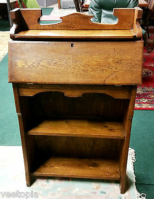 arts and crafts - students wall bureau - light oak - nice condition