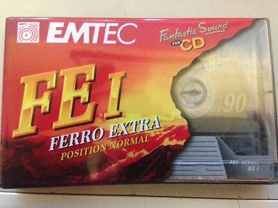 1 x EMTEC FE I 90 Minute Blank Cassette BRAND NEW / STILL SEALED!