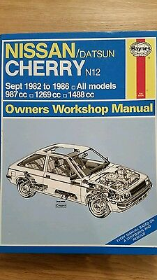 Nissan Datsun Cherry N12 1982 To 1986 Haynes Workshop Manual 1031 Used Condition