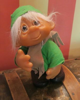 Vintage Dam 1982 Large Elf Christmas Troll Doll No. 243 Moveable Arms Denmark
