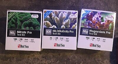 3 X Red Sea Water Test Kits Nitrate, Magnesium & KH Alkalinity Test