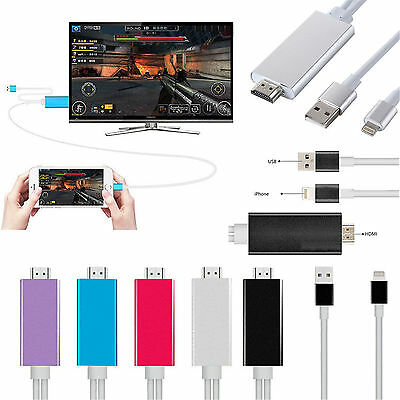 1080P HDMI HDTV AV Adapter Cable For iPhone 5/5S/6/6S Plus iPad 4 Air Mini 2 3