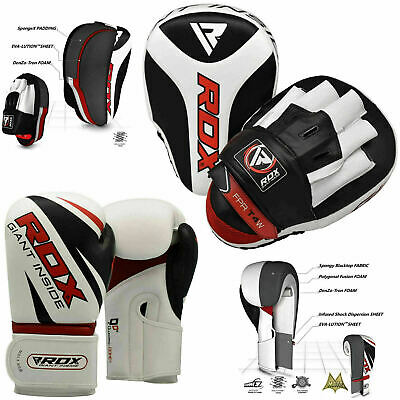 RDX Curved Focus Pads Hook and Jab Kick Boxing Gloves MMA Punching Muay Thai