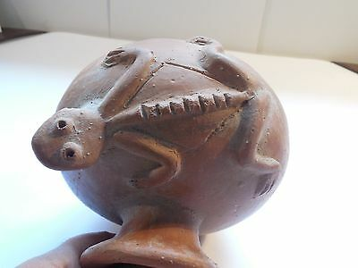 Nicoya Lizard Vessel Costa Rica Pre-Columbian Archaic Ancient Artifact Mayan