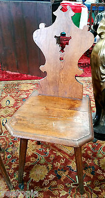 fantastic antique vintage chair - art nouveau - arts & crafts - solid light oak