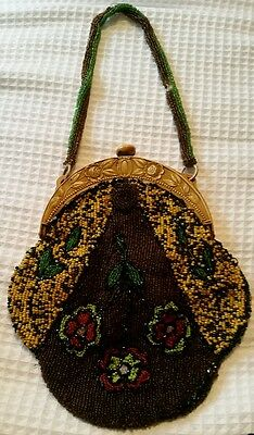 Vintage Hand Made Beaded Clutch Bag