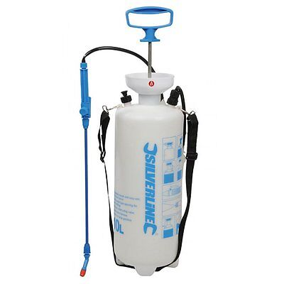 Garden Knapsack Chemical Weed Pressure Sprayer 10 L Litre Silverline 630070 NEW