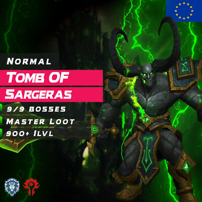WoW Boost ✯ Normal Tomb Of Sargeras 9/9 Master Loot ✯ All EU Side ✯