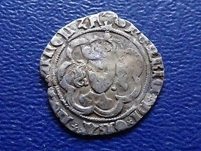 Great Britain - Henry Vii Hammered Silver Half Groat / Twopence Clipped