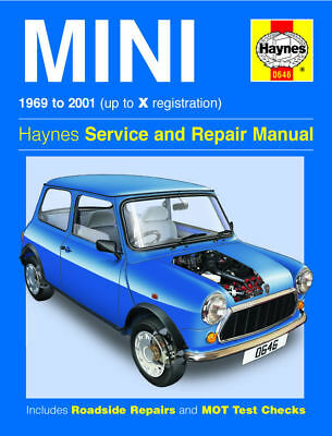Mini 1000 1275 1300 1.3i Cooper S 1969 - 2001 Haynes Manual 0646