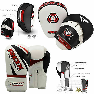 RDX Curved Focus Pads Hook and Jab Kick Boxing Gloves MMA Punching Muay Thai WH