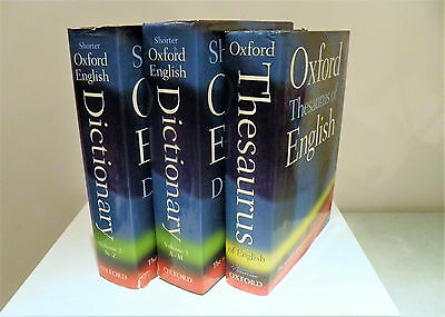 Shorter Oxford English Dictionary and Thesaurus by Oxford Dictionaries