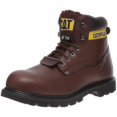 MENS Caterpillar CAT Sheffield WIDE STEEL TOE CAP SAFETY WORK BOOTS SHOES SIZE