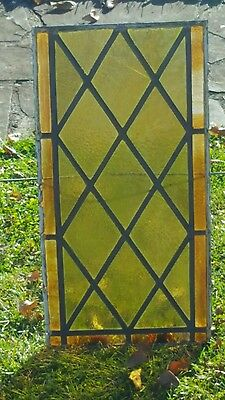 ANTIQUE GOTHIC STAINED GLASS from a church renovation