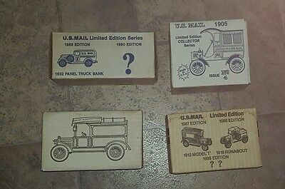 lot of (4) MIB ERTL US MAIL 1/25 SCALE COLLECTOR TRUCK BANKS