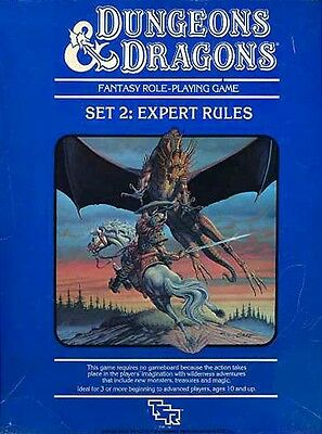 SET 2 EXPERT RULES w/DICE EXC+! Module Boxed D&D Isle Dread Dungeons Dragons DND