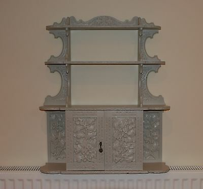 Ornate Painted Hanging Display Wall Cabinet Solid Wood Shabby Chic