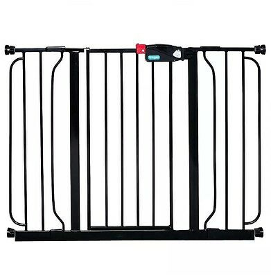 "Regalo Baby Pet Gate Extra Wide Safety Gate Black Up To 52"" Wide 30"" High"