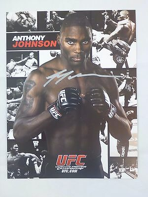 Anthony Rumble Johnson MMA Signed 8x10 UFC Photo Card in Silver Sharpie