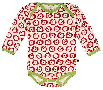 Body suit long sleeved loud and proud 272 red/sunrise 100% Organic cotton kba