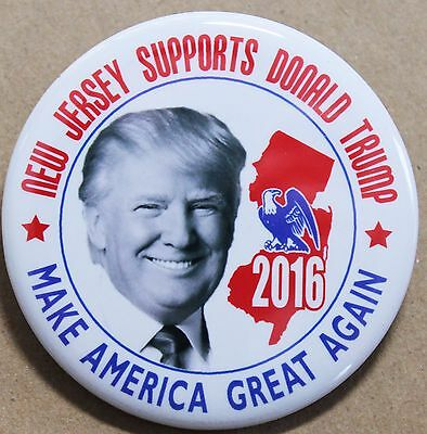 Donald Trump For President 2016 Button-New Jersey