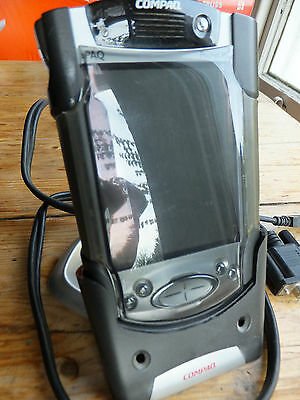 Compaq iPAQ 3870 PDA Personal PC electronic organiser with case & cradle