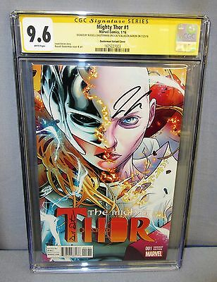 MIGHTY THOR #1 (Dauterman Variant signed by him & Jason Aaron) CGC 9.6 2016