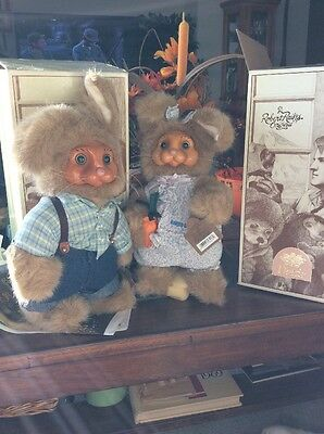 Robert Raikes Collectible Dottie And Dylan Handcrafted Rabbits