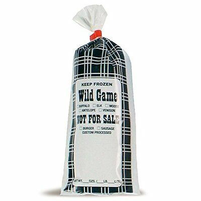 Wild Game Meat/Chub Bag NFS 1 lb 4.25in Width x 10in Length Pack of 1000