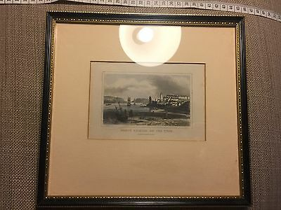 Framed and Glazed Print (Antique Engraving) Of North Shields, Northumberland