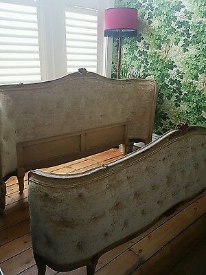 Antique French Super King Size Double Corbeille Bed - Rare