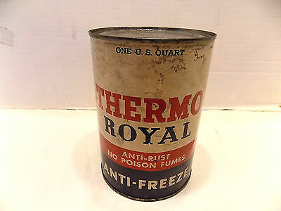 Vintage Thermo Royal Anti-Freeze Metal Can Full
