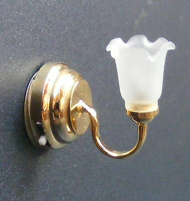 1:12 Scale Working LED Battery Tulip Wall Light Dolls House Miniature SB265